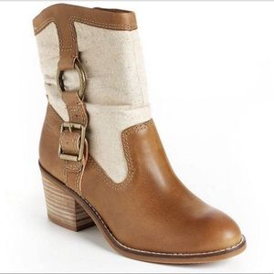Lucky brand leather ankle boots size 8